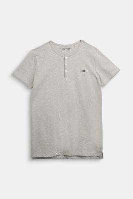 Henley T-shirt made of 100% cotton, MEDIUM GREY, detail