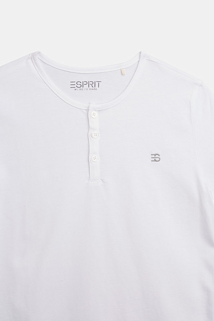 Henley T-shirt made of 100% cotton, WHITE, detail image number 2