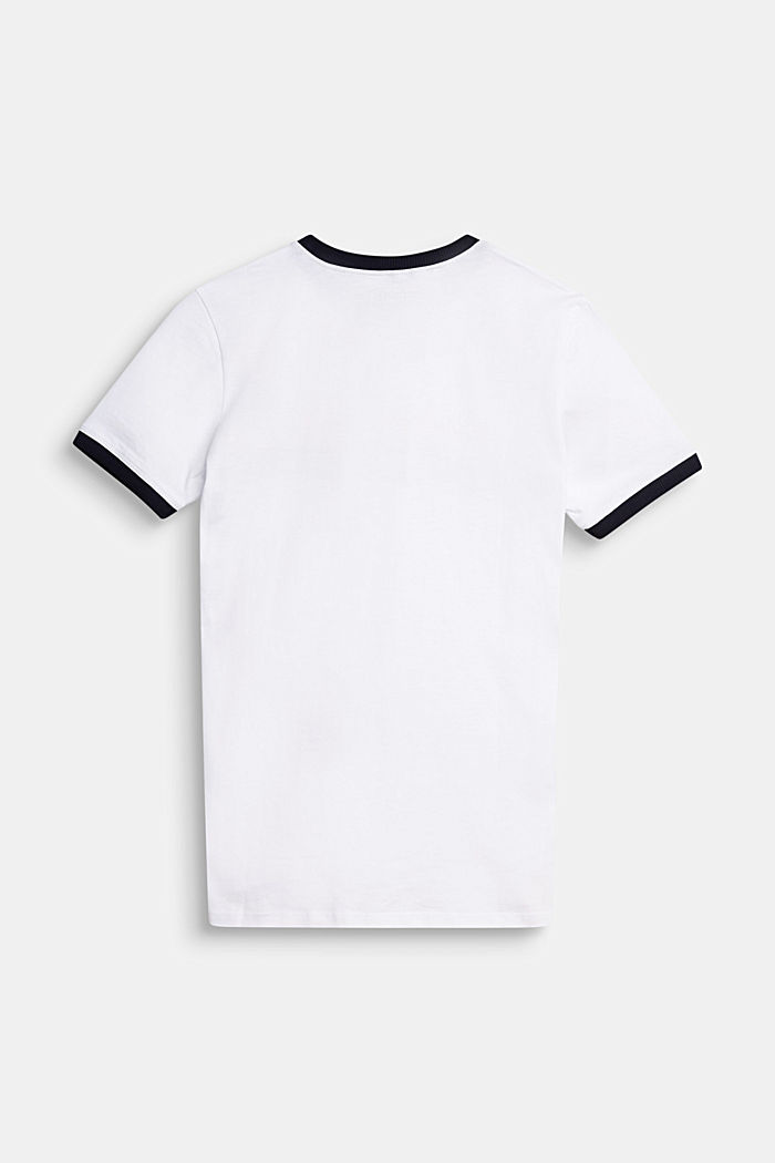 T-shirt with a logo print in 100% cotton