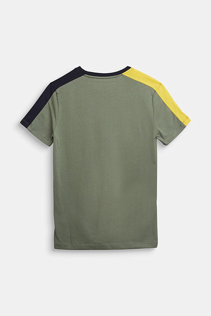 Jersey T-shirt in 100% cotton, DUSTY GREEN, detail image number 1
