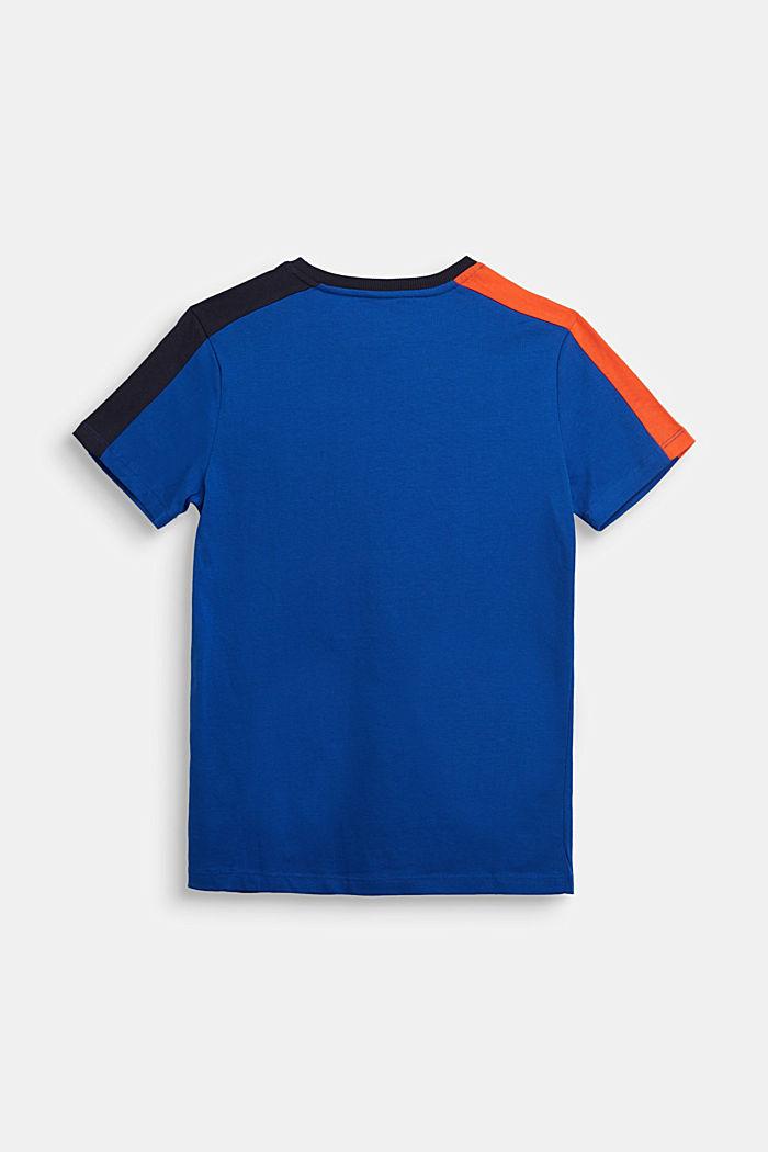Jersey-T-Shirt aus 100% Baumwolle, BRIGHT BLUE, detail image number 1