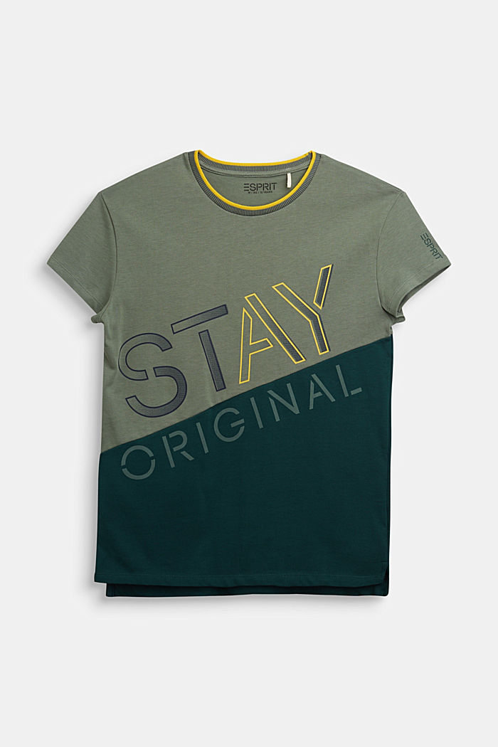 100% cotton T-shirt, DUSTY GREEN, overview