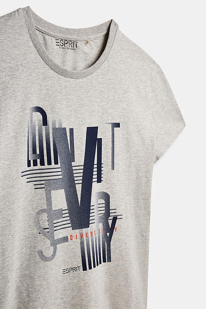 Print T-shirt in 100% cotton, MEDIUM GREY, detail image number 2