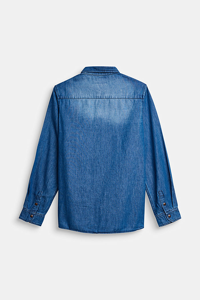 Denim shirt made of cotton/lyocell