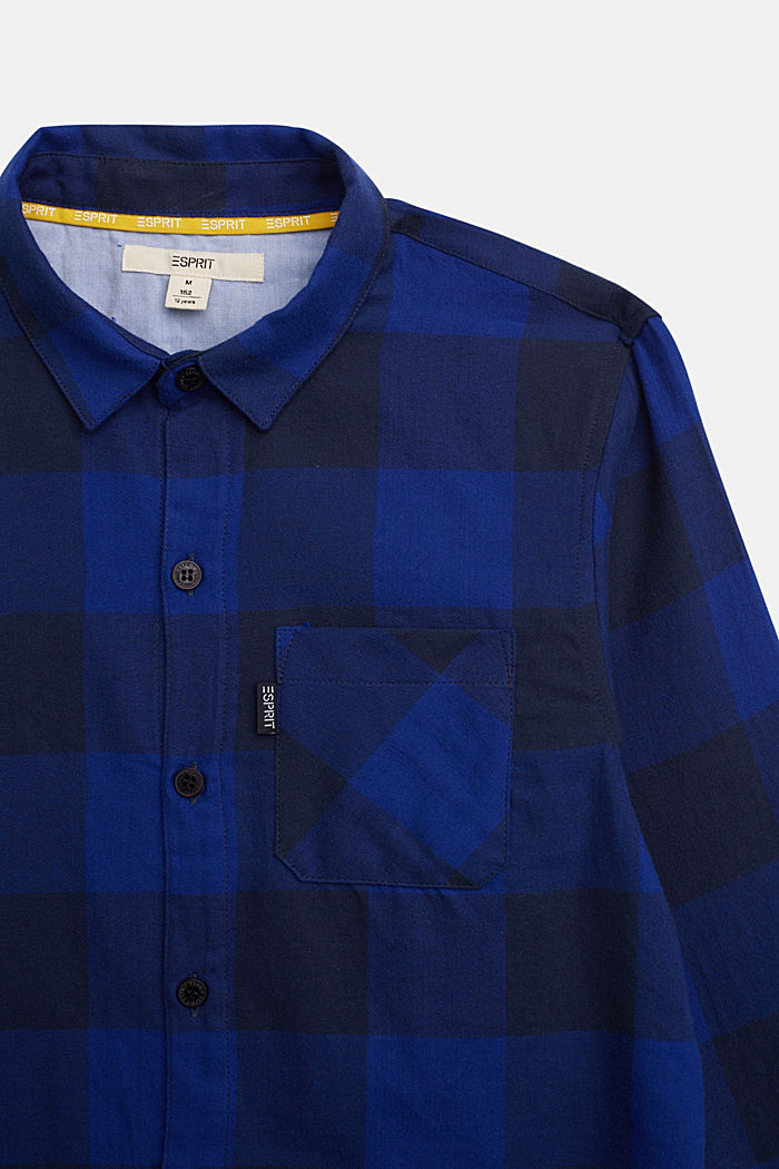 Check shirt in 100% cotton, BRIGHT BLUE, detail image number 2