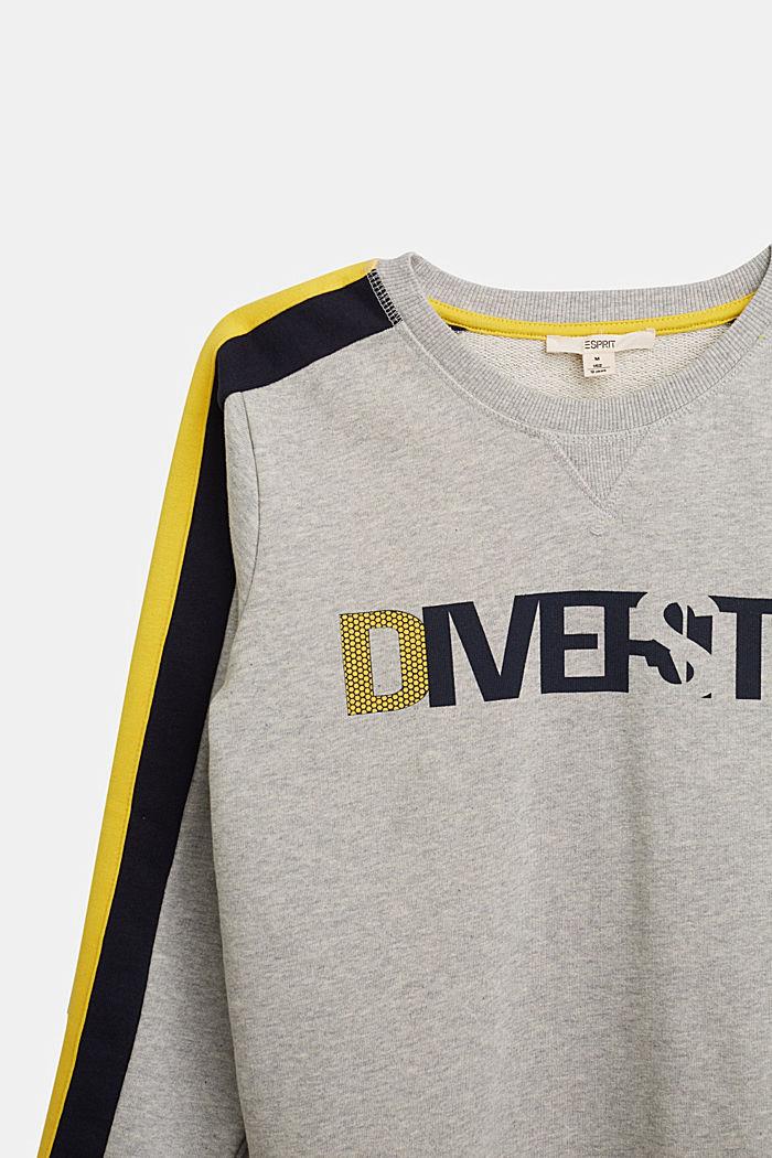Sweatshirt in 100% cotton, MEDIUM GREY, detail image number 2