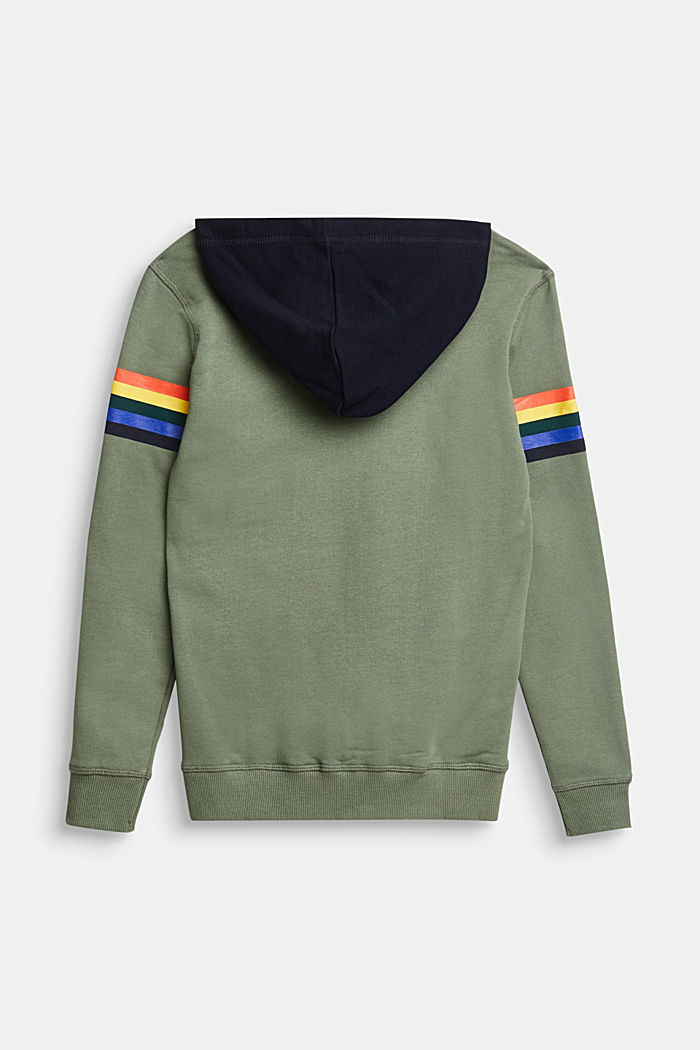 Sweatshirt hoodie with an embossed print, 100% cotton