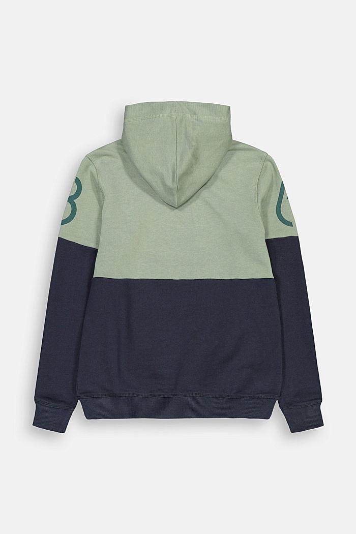 Hoodie in 100% cotton, MEDIUM GREY, detail image number 1