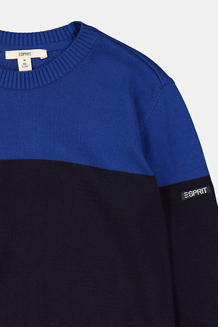 100% cotton jumper, NAVY, detail image number 2