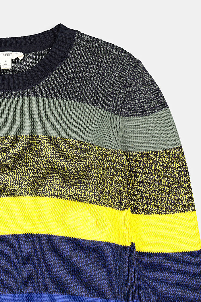 Jumper with block stripes, NAVY, detail image number 2