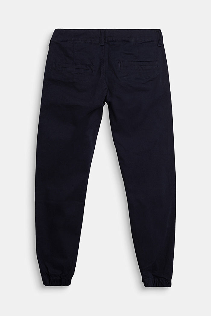 Stretch cotton chinos, NAVY, detail image number 1