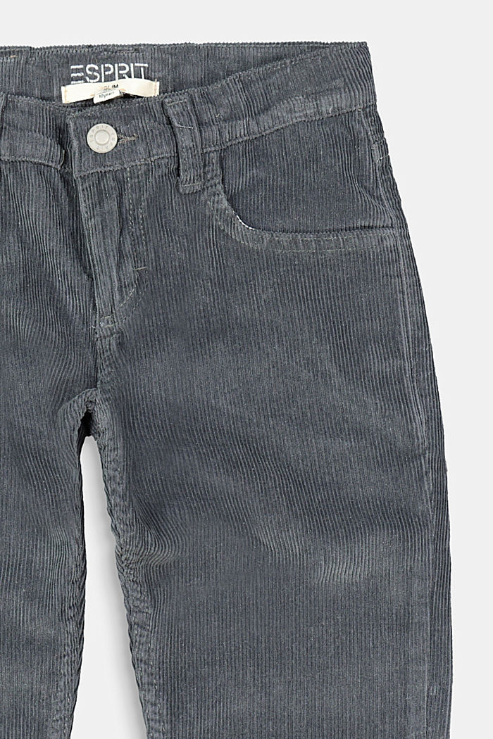 Cord trousers with an adjustable waistband, GREY, detail image number 2