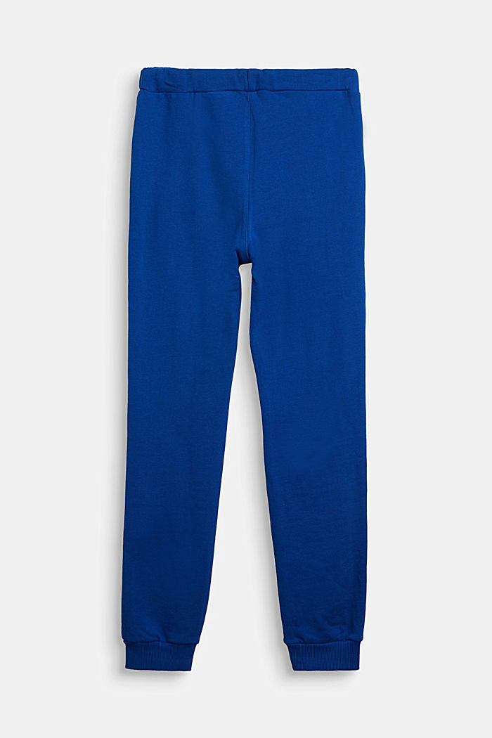 Tracksuit bottoms in 100% cotton, BRIGHT BLUE, detail image number 1