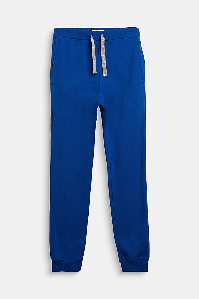 Tracksuit bottoms in 100% cotton, BRIGHT BLUE, detail image number 0