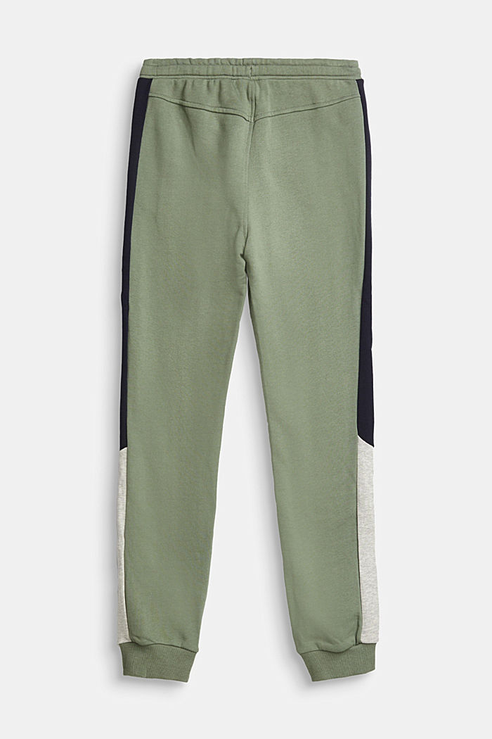 Tracksuit bottoms with stripes, 100% cotton