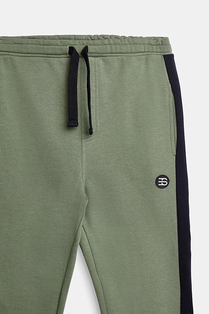 Sweat-Hose mit Streifen, 100% Baumwolle, DUSTY GREEN, detail image number 2