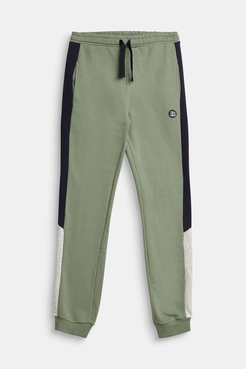 Esprit - Tracksuit bottoms with stripes, 100% cotton