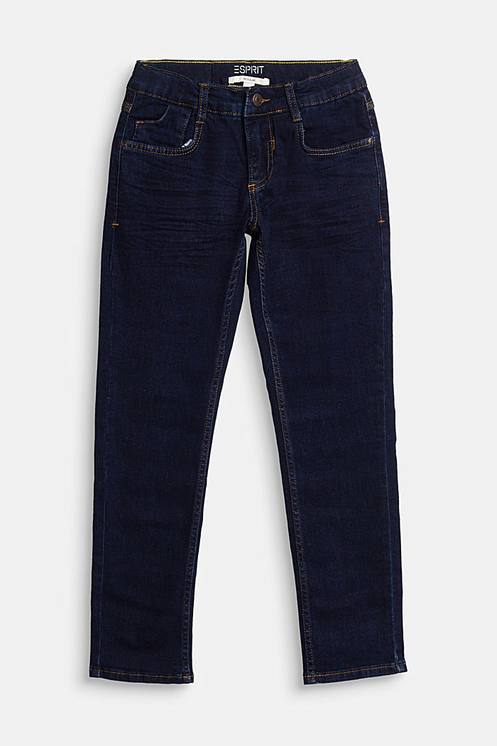 Stretch jeans with an adjustable waist, BLUE RINSE, detail image number 0