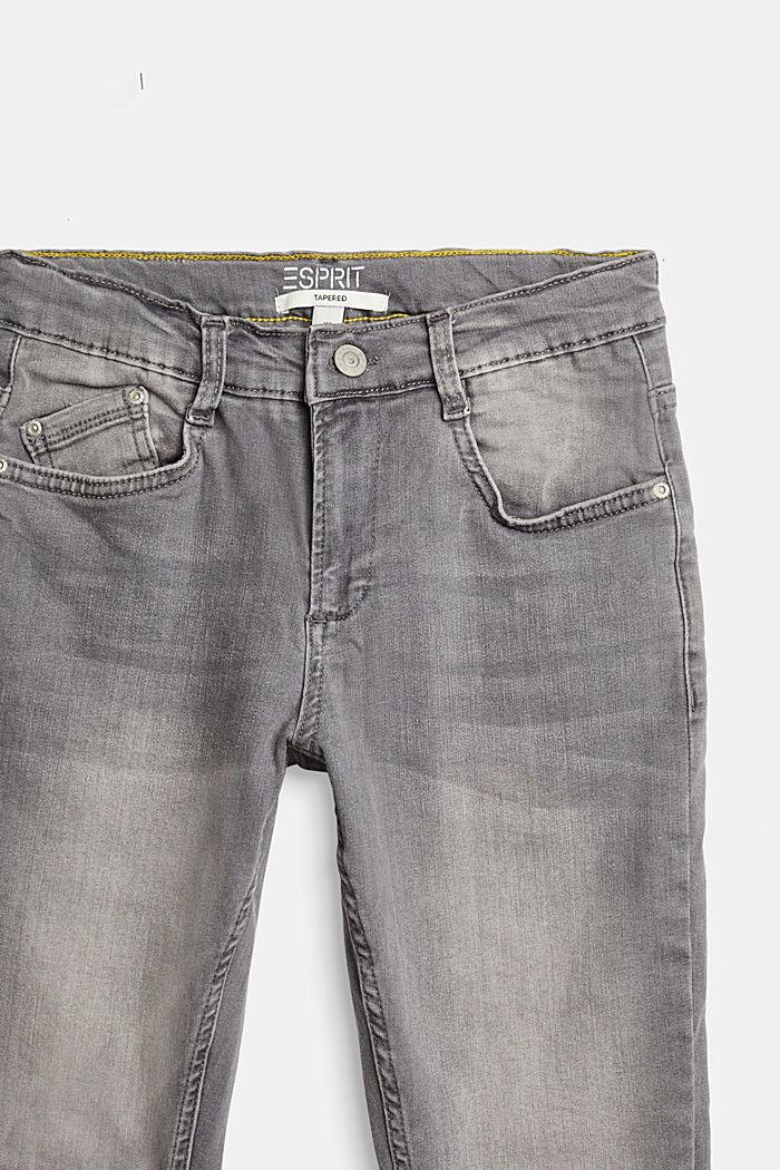 Vaqueros elásticos con cintura ajustable, GREY MEDIUM WASHED, detail image number 2