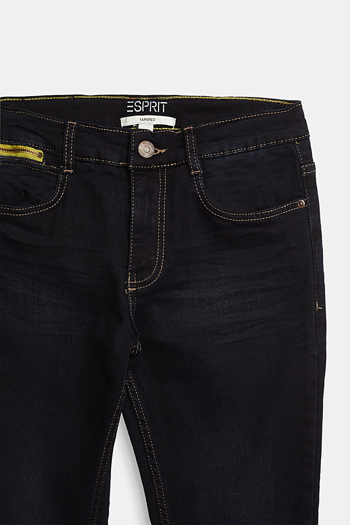 Stretch jeans with an adjustable waist, BLUE DARK WASHED, detail image number 2