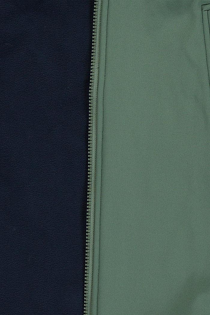 Softshell-Jacke mit Reflektor-Details, DUSTY GREEN, detail image number 2