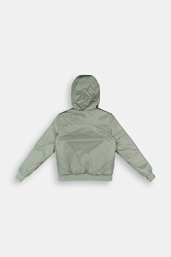 Padded bomber-style jacket, DUSTY GREEN, detail image number 1