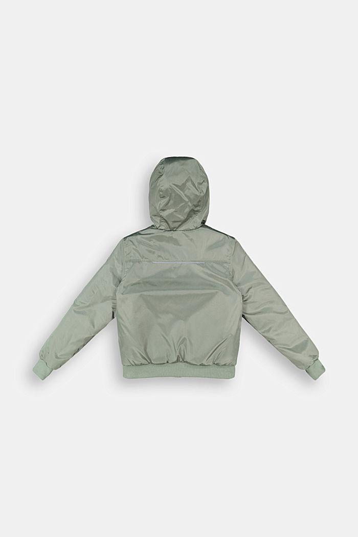 Padded bomber-style jacket