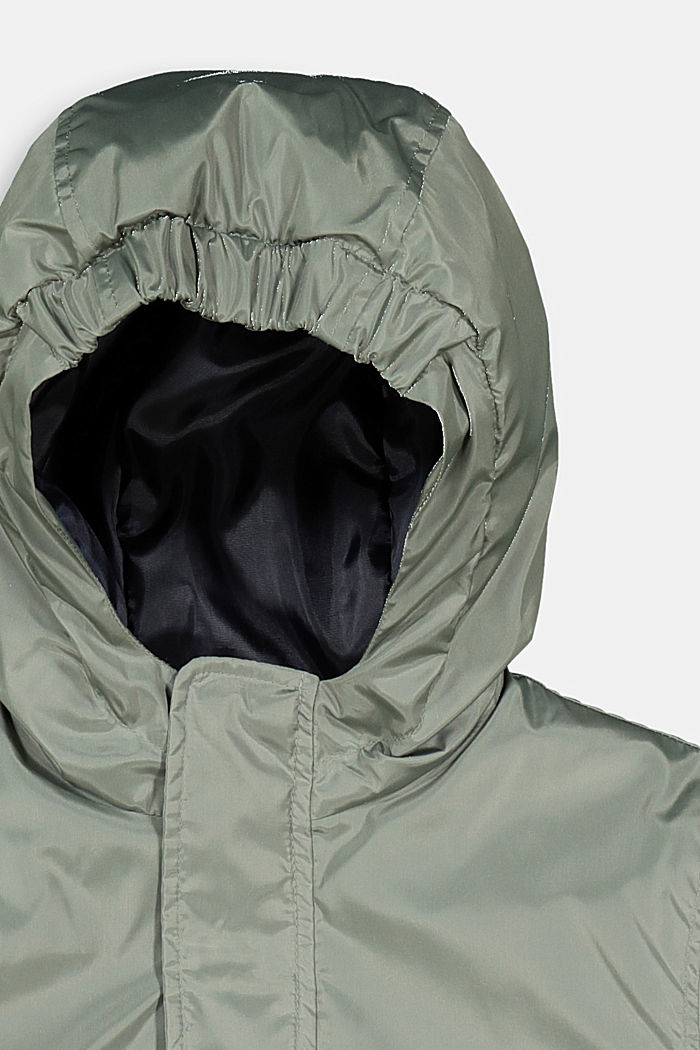 Padded bomber-style jacket, DUSTY GREEN, detail image number 2