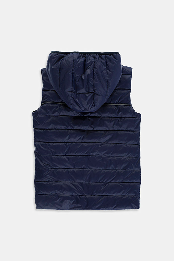Quilted body warmer with fleece lining, NAVY, detail image number 1