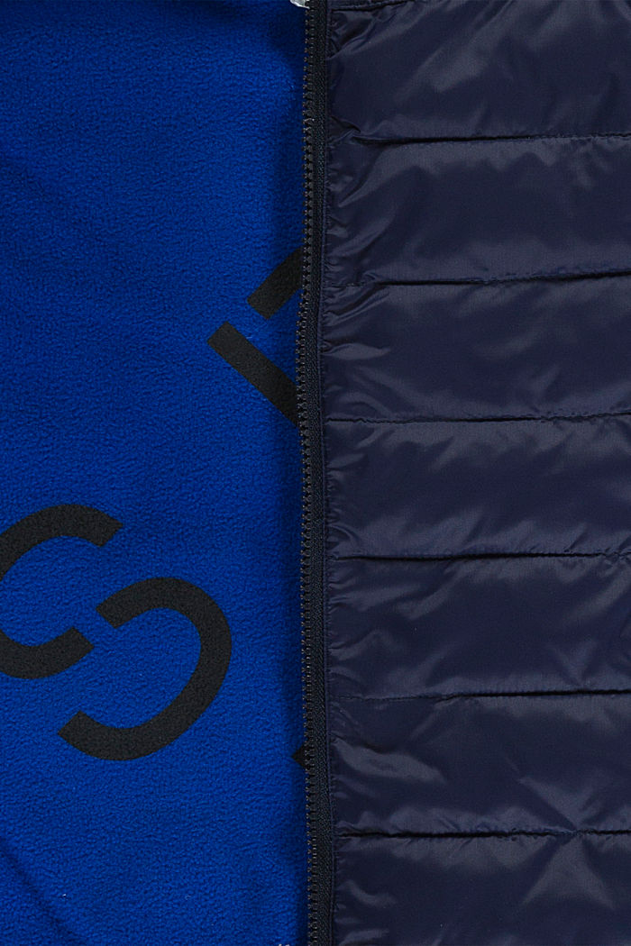 Quilted body warmer with fleece lining, NAVY, detail image number 2