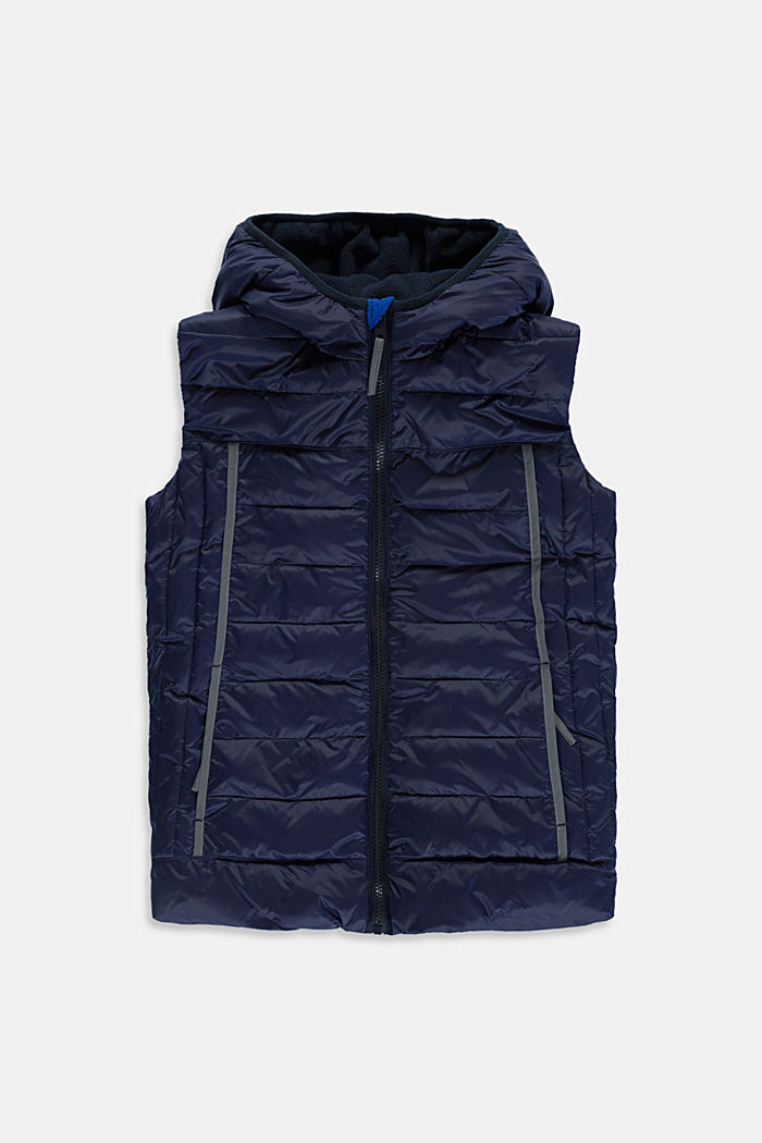 Quilted body warmer with fleece lining, NAVY, detail image number 0
