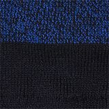 Knitted hat in a colour block look, NAVY, swatch