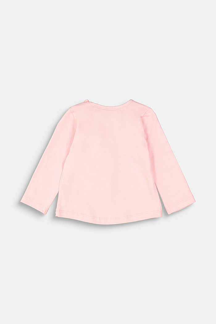 Long sleeve top with a print and organic cotton, LIGHT PINK, detail image number 1
