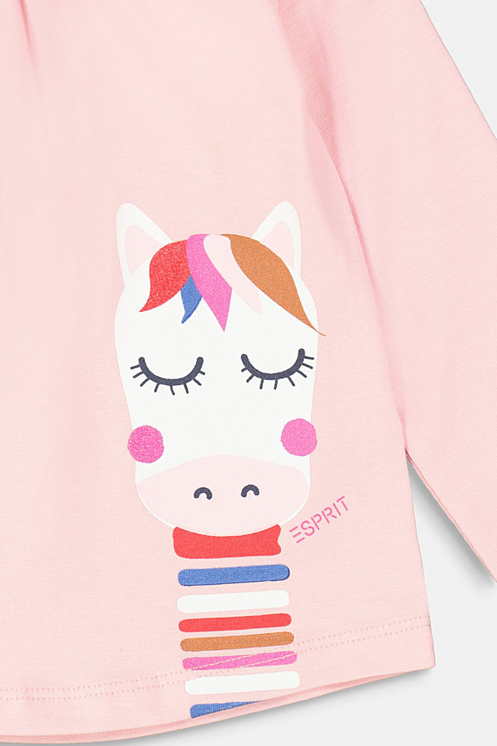 Long sleeve top with a print and organic cotton, LIGHT PINK, detail image number 2