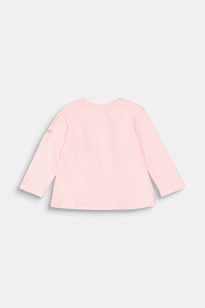 Long sleeve top with a gather and a bow, LIGHT PINK, detail image number 1
