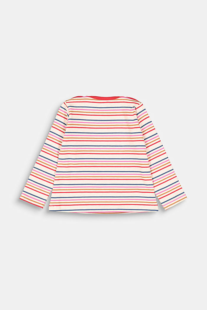 Long sleeve top with colourful stripes, SAND, detail image number 1