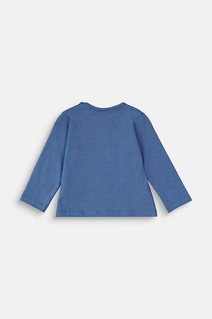 Long sleeve top with a horse print, BLUE, detail image number 1