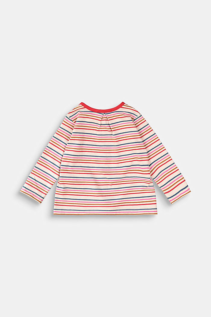 Jersey-Cardigan mit Multicolor-Streifen, SAND, detail image number 1