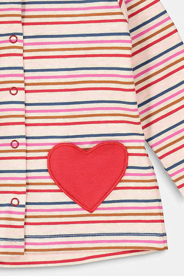 Jersey-Cardigan mit Multicolor-Streifen, SAND, detail image number 2