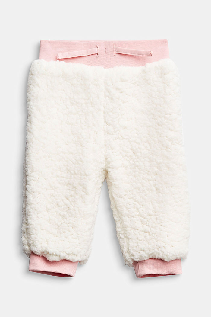 Teddy tracksuit bottoms with organic cotton