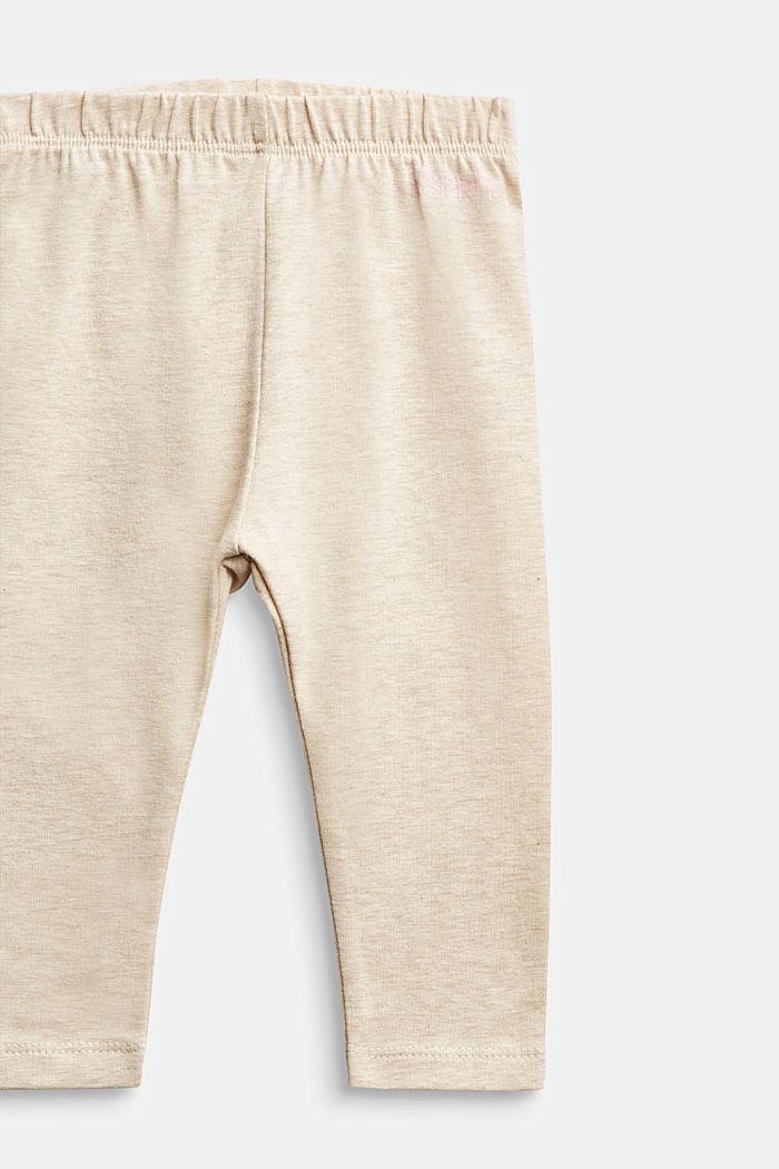 Melange leggings, organic cotton, SAND, detail image number 2