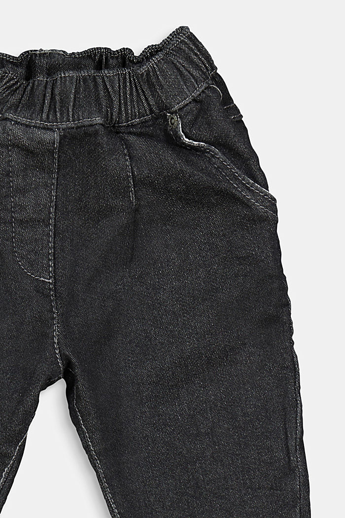 Jeans dal comodo stile jogger, DARK GREY WASHED, detail image number 2