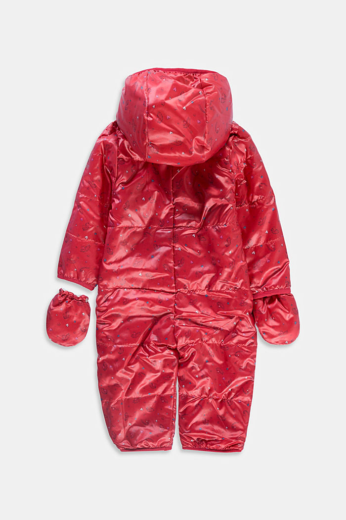 Printed snow suit with fleece lining, RED, detail image number 1