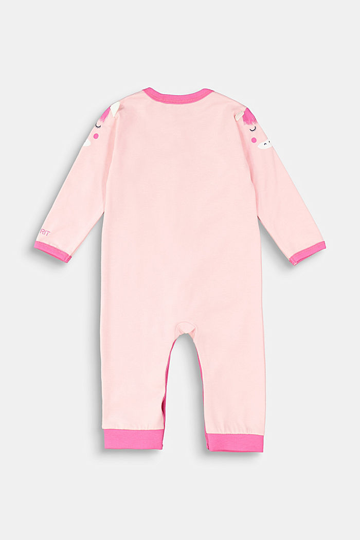 Romper suit with an artwork print, LIGHT PINK, detail image number 1