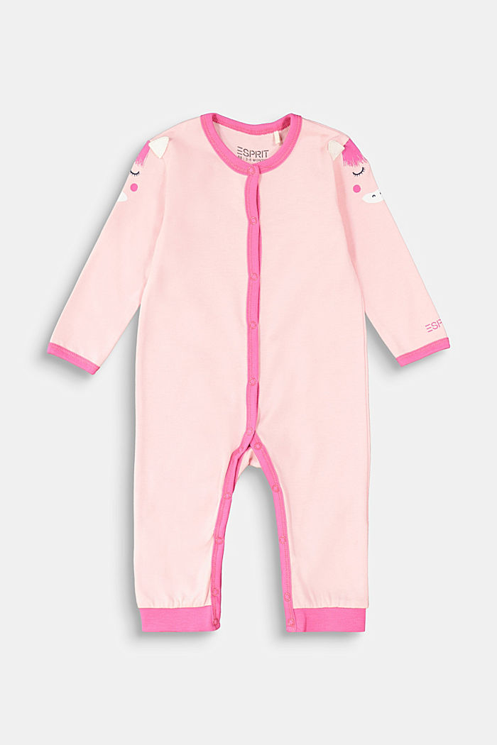 Romper suit with an artwork print, LIGHT PINK, detail image number 0