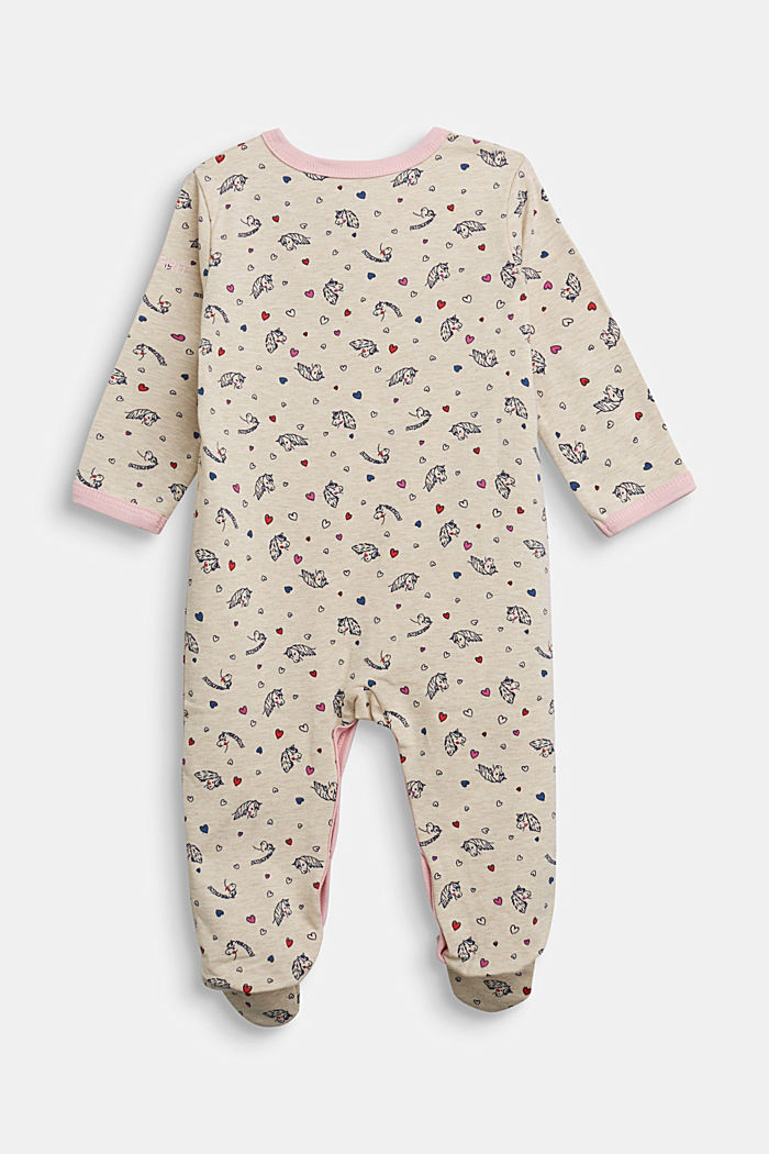 Jumpsuit with print and organic cotton