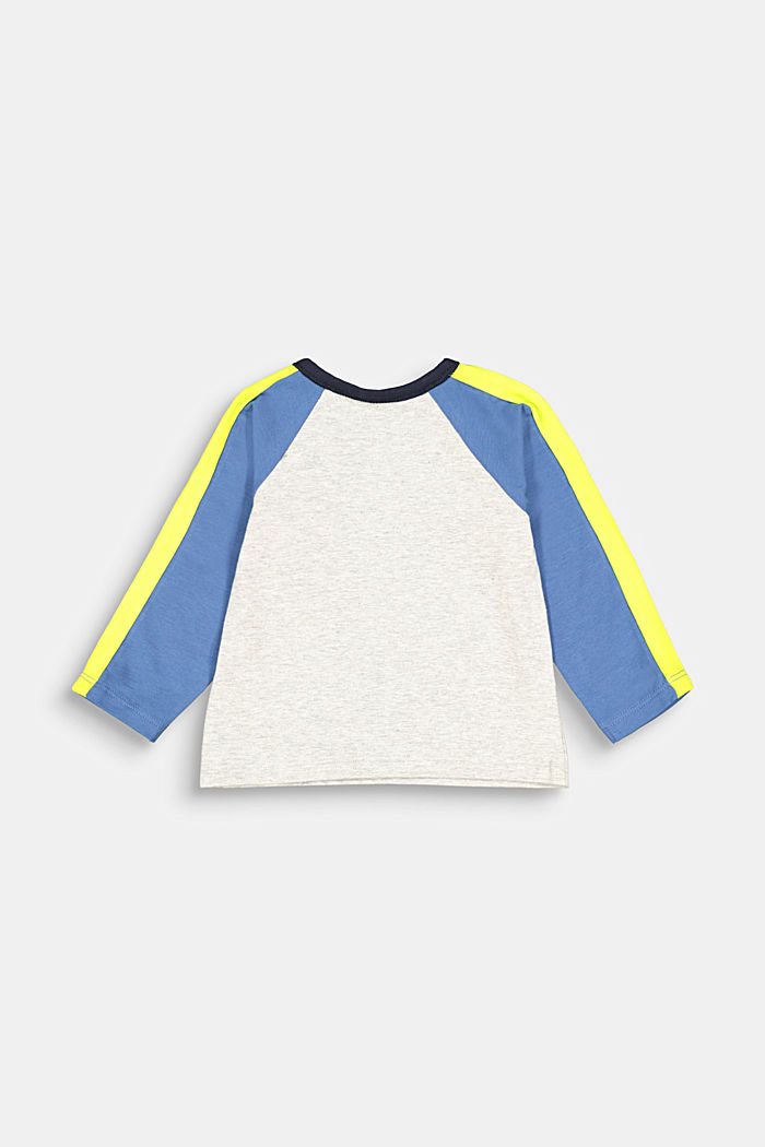 Colour block long sleeve top with organic cotton