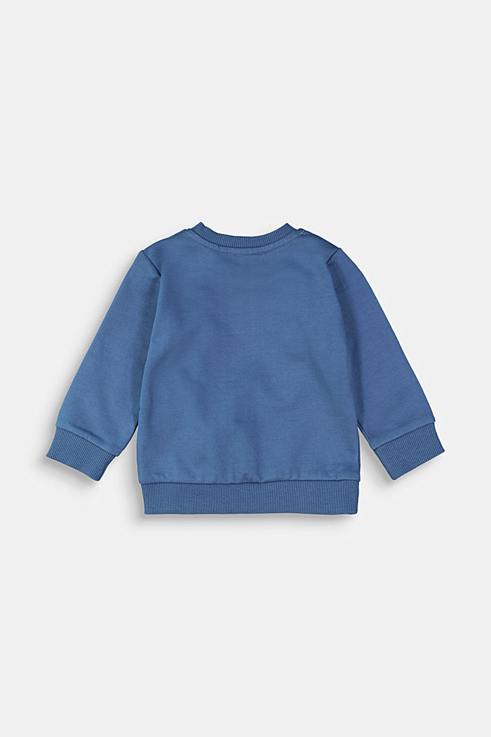 Sweatshirt met dierenmotief, 100% biologisch katoen, BLUE, detail image number 1