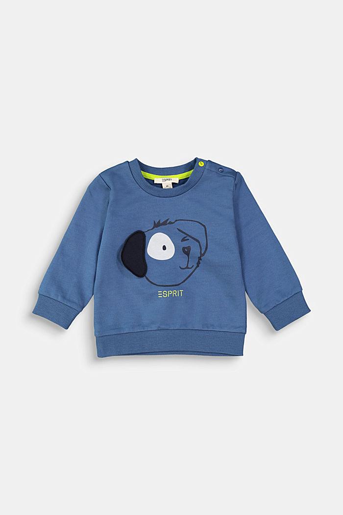 Sweatshirt met dierenmotief, 100% biologisch katoen, BLUE, detail image number 0