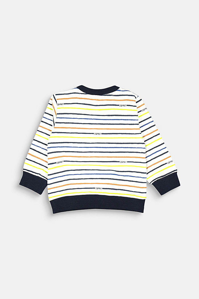 Striped sweatshirt made of 100% organic cotton, SKIN BEIGE, detail image number 1
